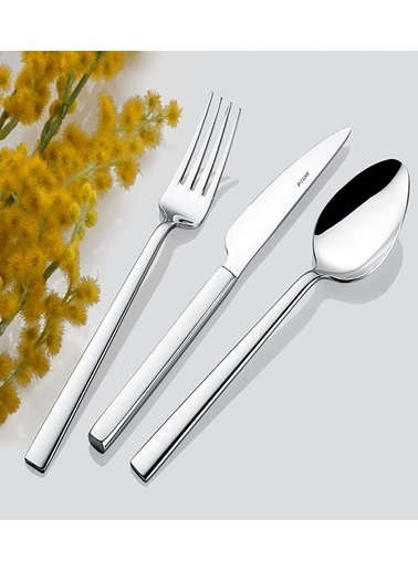 İnter Çelik Nil Çatal Kaşık Takımı - Çatal Kaşık Seti  72 Prç. Renkli